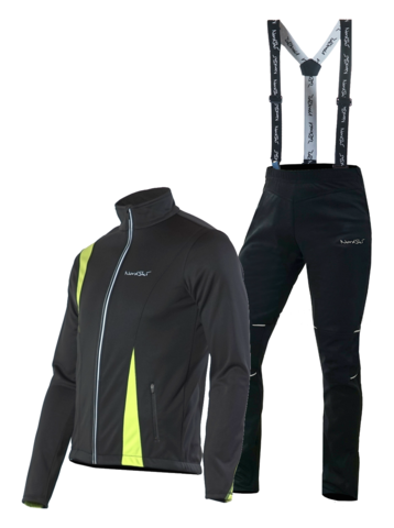 Nordski Active Premium мужской лыжный костюм black-lime