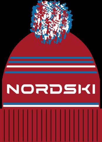 Nordski Stripe RUS теплая шапка red