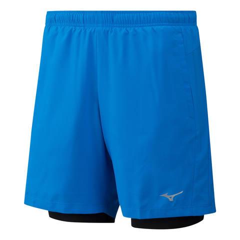 Mizuno Impulse 7.5 2 In 1 Short шорты для бега мужские синие