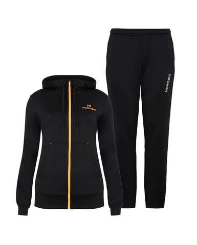 Nordski Hood Base спортивный костюм женский black-orange