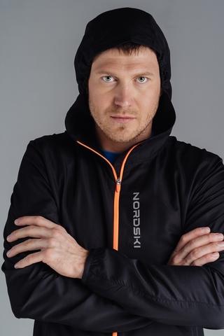 Nordski Run куртка для бега мужская Black-Orange