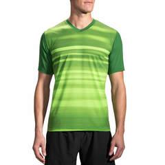 Brooks Fly By Ss Top футболка для бега мужская зеленая