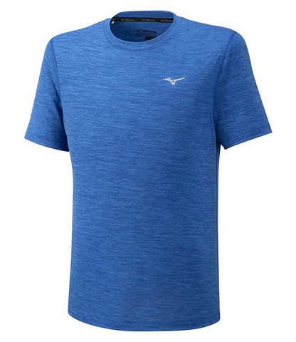 Mizuno Impulse Core Tee беговая футболка мужская blue