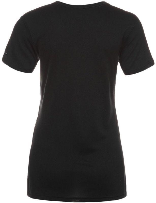 Футболка Nike Legend V-Neck SS Run Swoosh (WOMEN) чёрная - 2