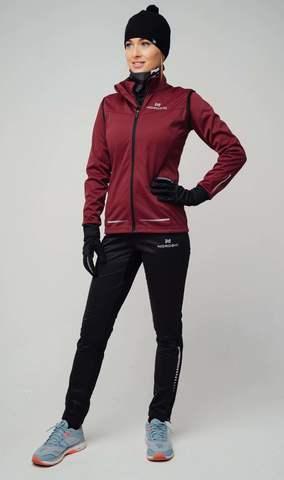 Nordski Pro лыжный костюм женский wine-black