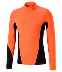 Термобелье рубашка мужская Mizuno Virtual Body G1 High Neck оранжевая