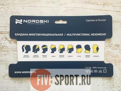 Nordski Logo многофункциональный баф красный