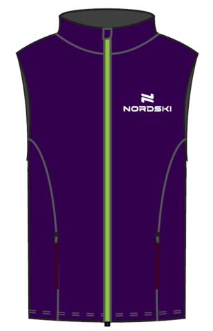 Nordski Kids Motion теплый жилет для девочек purple