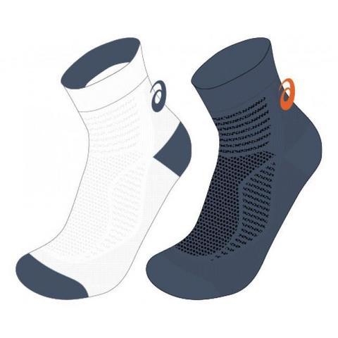 Asics 2PPK Ultra Lightweight Quarter Socks комплект носков белые-серые