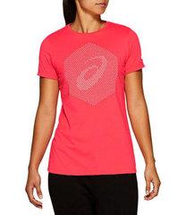 Asics Essential Cotton Blend футболка для бега женская розовая