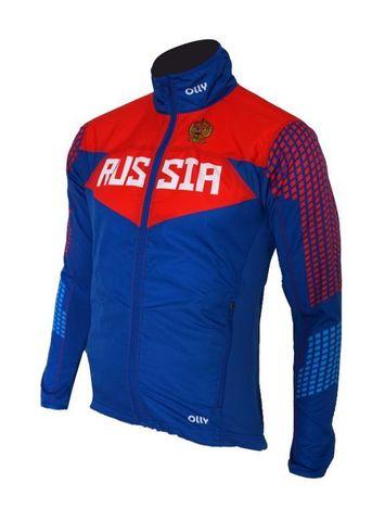 Olly Russia куртка для бега синяя-красная