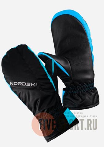 Nordski Arctic Membrane варежки мембранные черные-бирюзовые