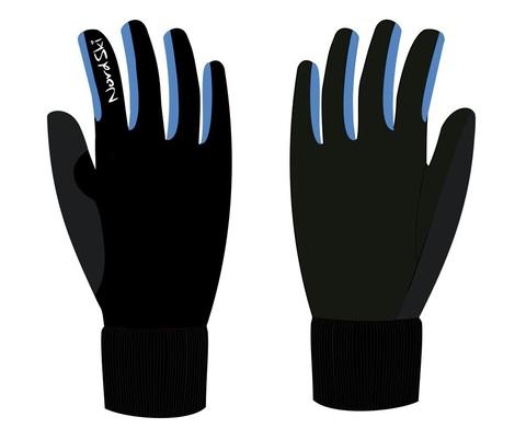 Nordski Arctic WS лыжные перчатки black-blue