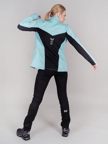 Nordski Jr Base тренировочная куртка для девочек mint-black