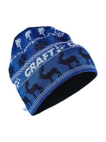 Craft Retro лыжная шапка вязаная синяя