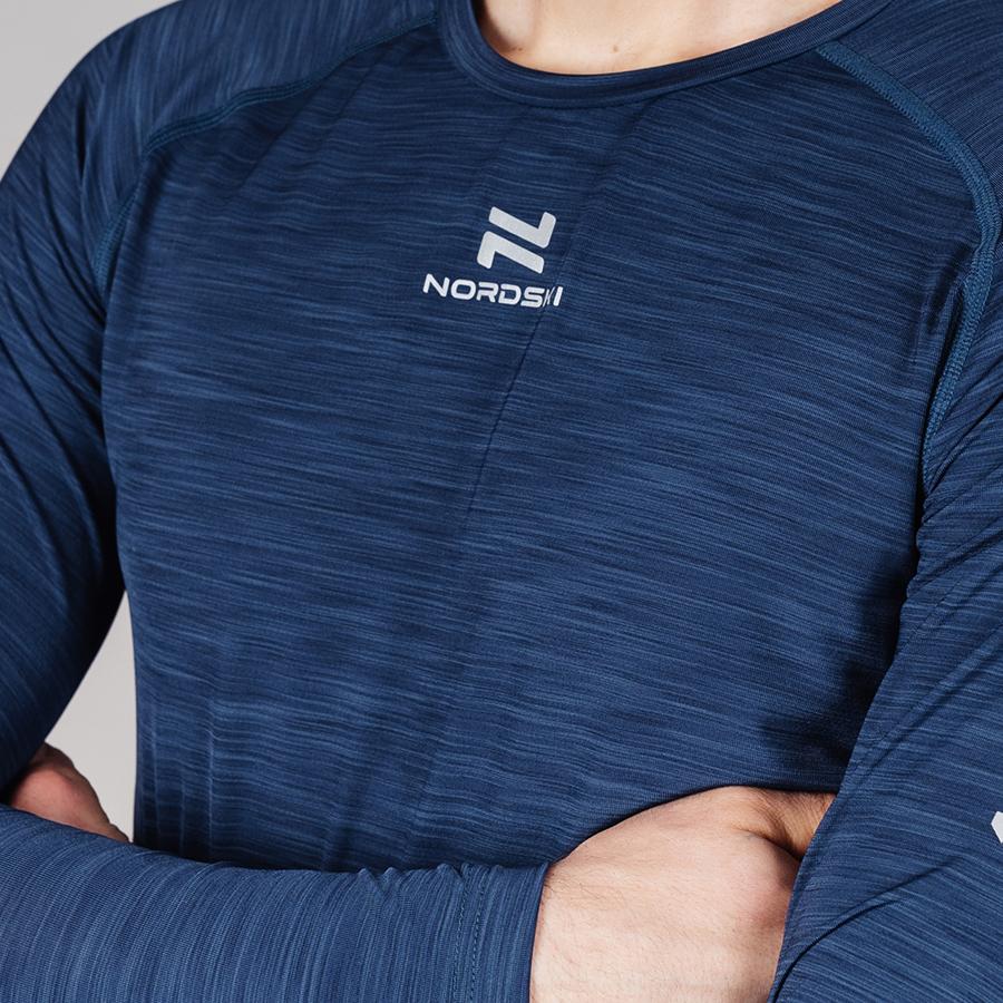Nordski Pro футболка тренировочная мужская с длинным рукавом blue - 4