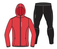 Nordski Run Premium костюм для бега мужской Red-Black
