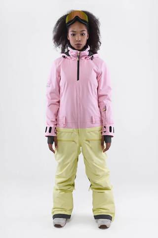 COOL ZONE Moon сноубордический комбинезон женский светло-розовый-лимонный