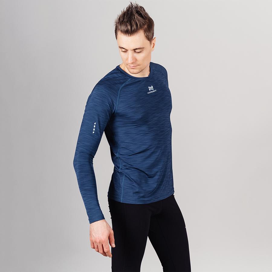 Nordski Pro футболка тренировочная мужская с длинным рукавом blue - 5