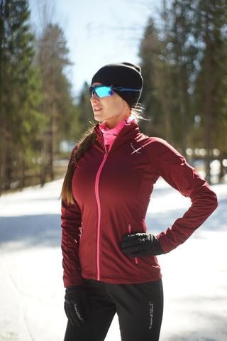 Nordski Elite женская разминочная куртка wine
