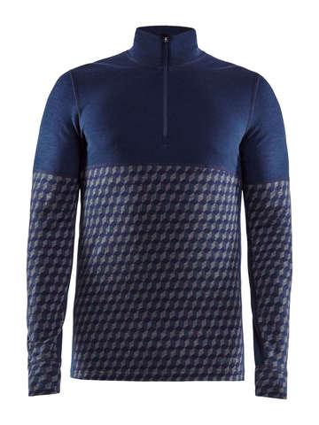Craft Merino 240 термобелье рубашка c шерстью мужская синяя-серая