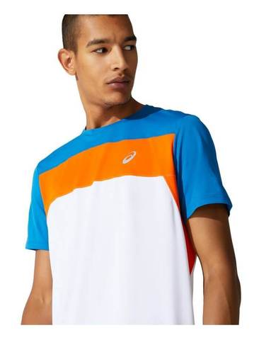 Asics Race Ss Top футболка для бега мужская белая