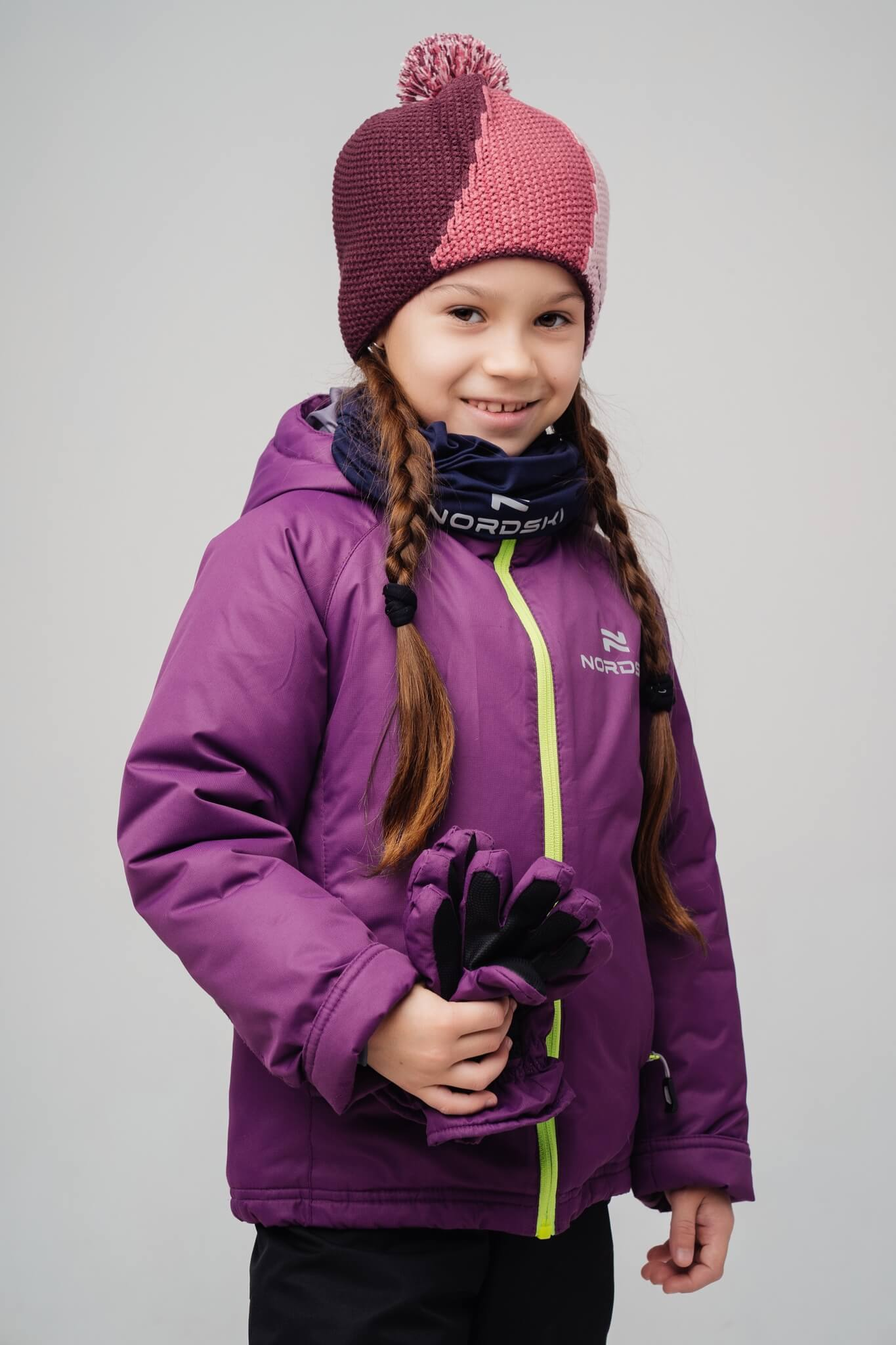 Nordski Kids Motion прогулочная лыжная куртка детская purple