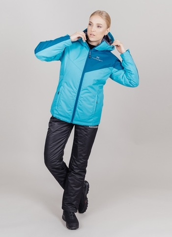 Nordski Premium Sport утепленная лыжная куртка женская aquamarine