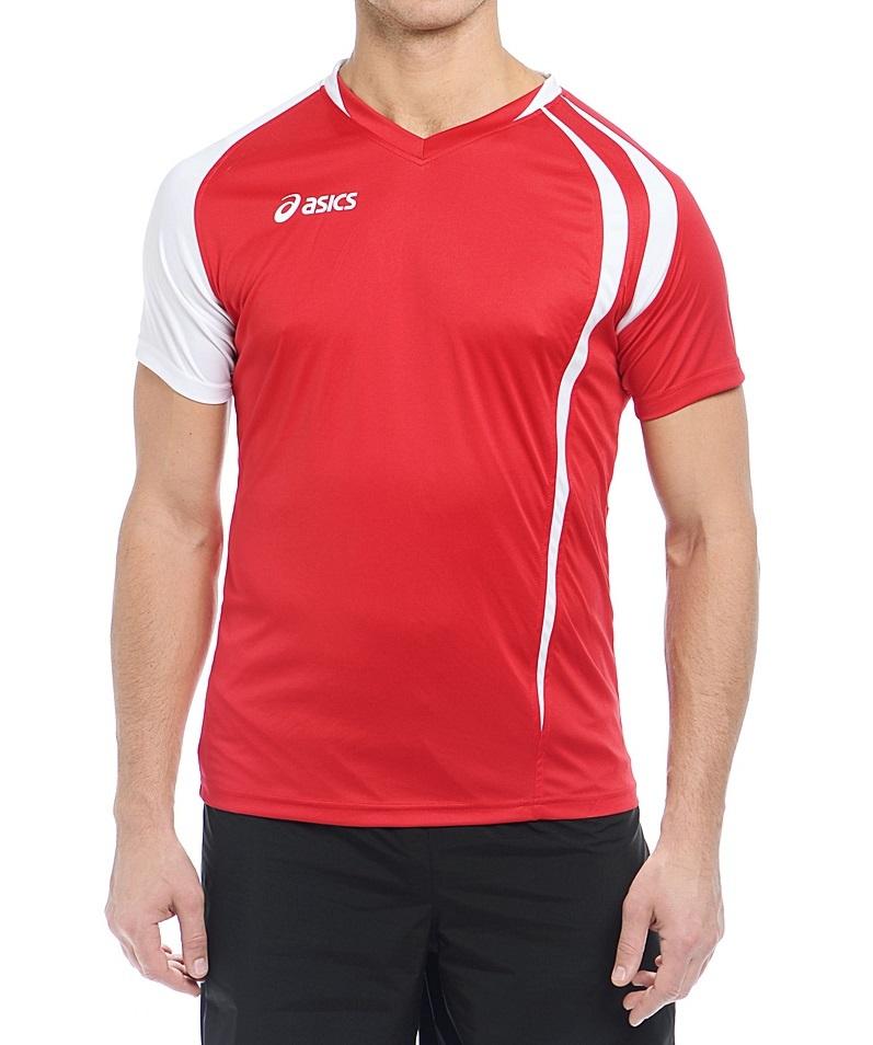 Asics T-shirt Fan Man футболка волейбольная red