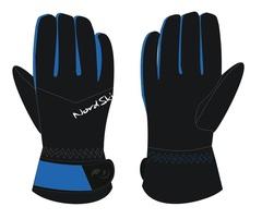 Nordski Jr Arctic Membrane детские перчатки black-blue