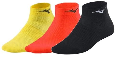 Mizuno Training Mid 3P комплект носков черный-красный-желтый