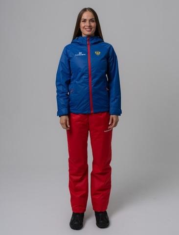 Nordski Light Patriot утепленный ветрозащитный костюм женский red