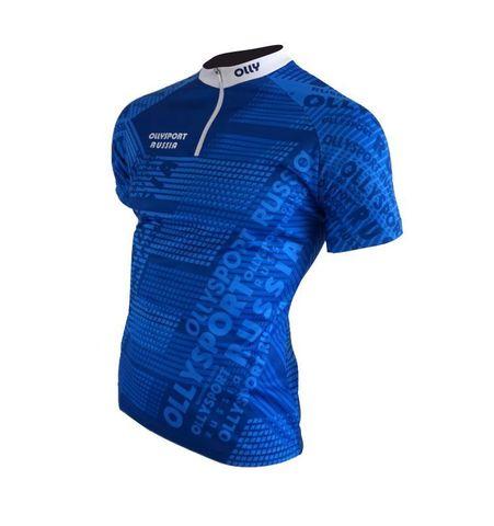 Olly Sport футболка беговая синяя