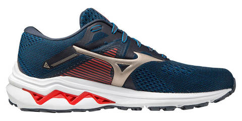 Mizuno Wave Inspire 17 кроссовки для бега мужские темно-синие