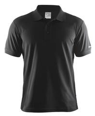 Футболка-поло мужская Craft Pique черная