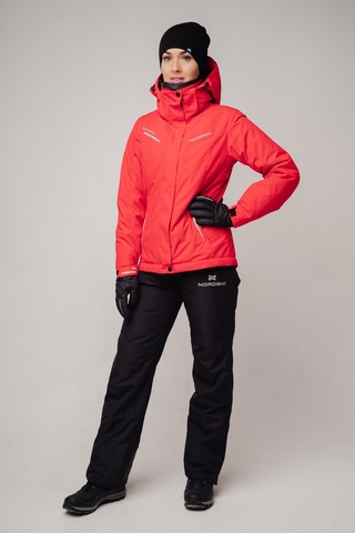 Nordski Extreme горнолыжная куртка женская red