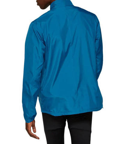 Asics Silver ветрозащитная куртка мужская темно-синяя