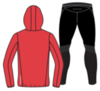 Nordski Run Premium костюм для бега мужской Red-Black - 2