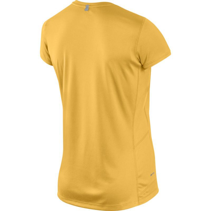 Футболка Nike Miler SS Crew Top (WOMEN) жёлтая - 2