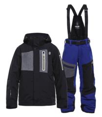 Горнолыжный костюм детский 8848 Altitude New Land Defender черный-синий