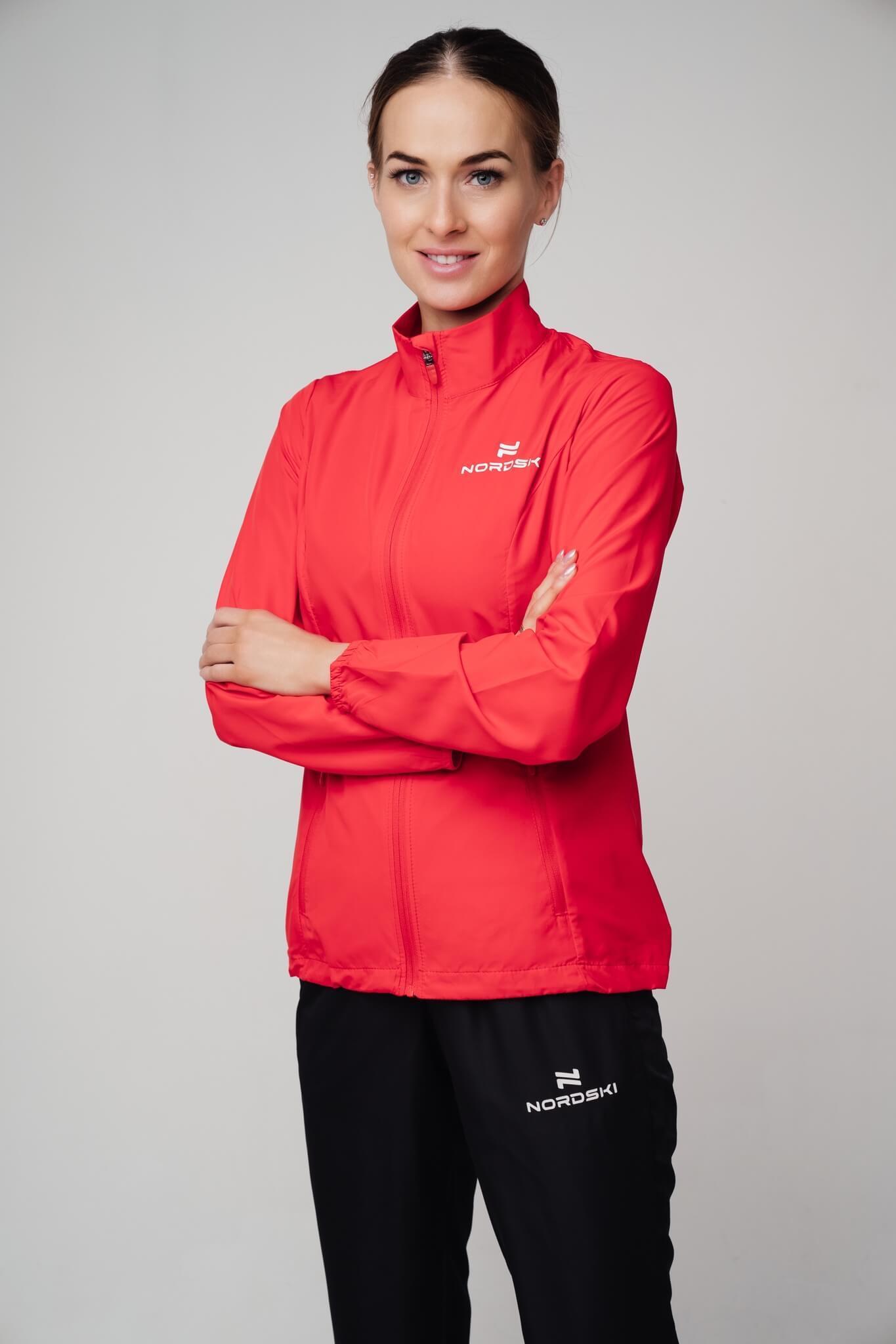 Nordski Motion куртка ветровка женская Red - 7