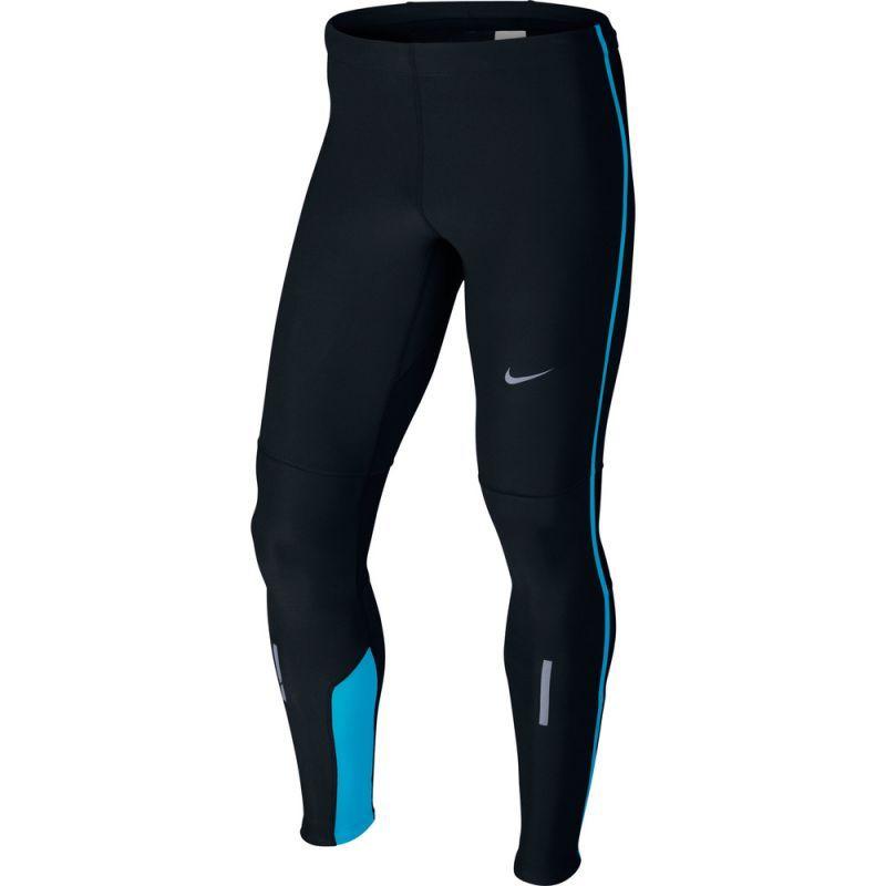 Тайтсы Nike Tech Tight чёрно-голубые