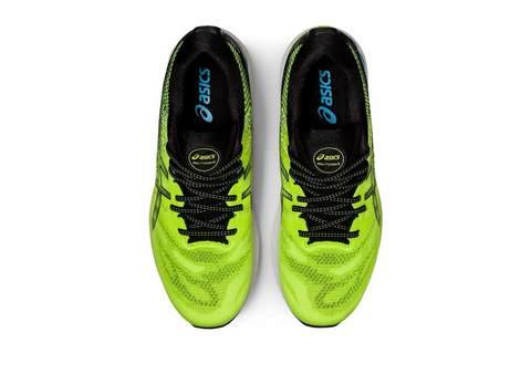 Asics Gel Nimbus 23 кроссовки для бега мужские салатовые-черные (Распродажа)
