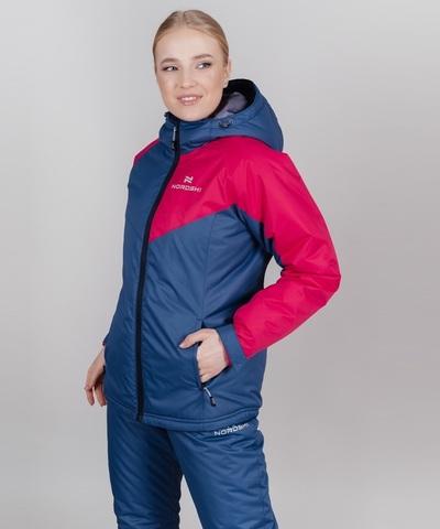 Nordski Premium Sport теплый лыжный костюм женский denim