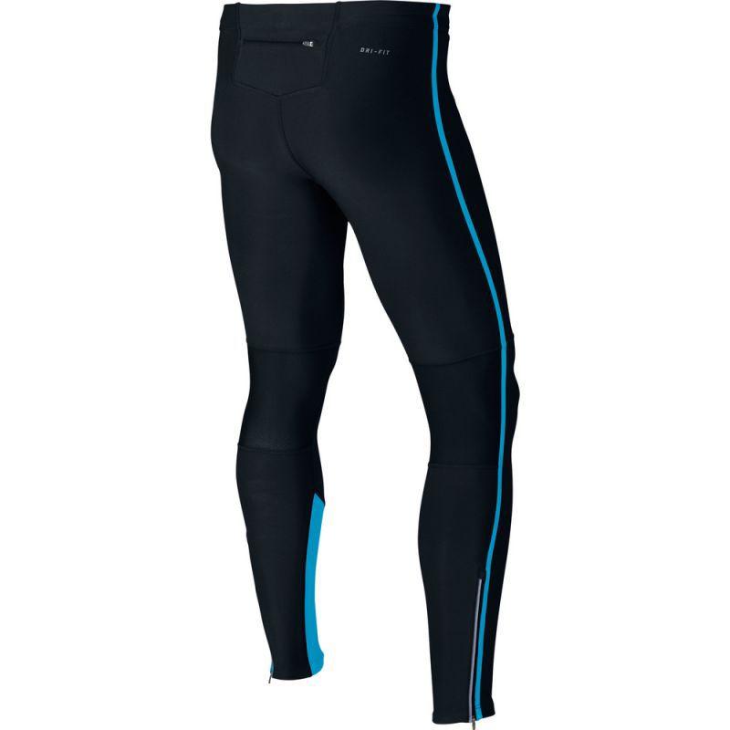 Тайтсы Nike Tech Tight чёрно-голубые - 2