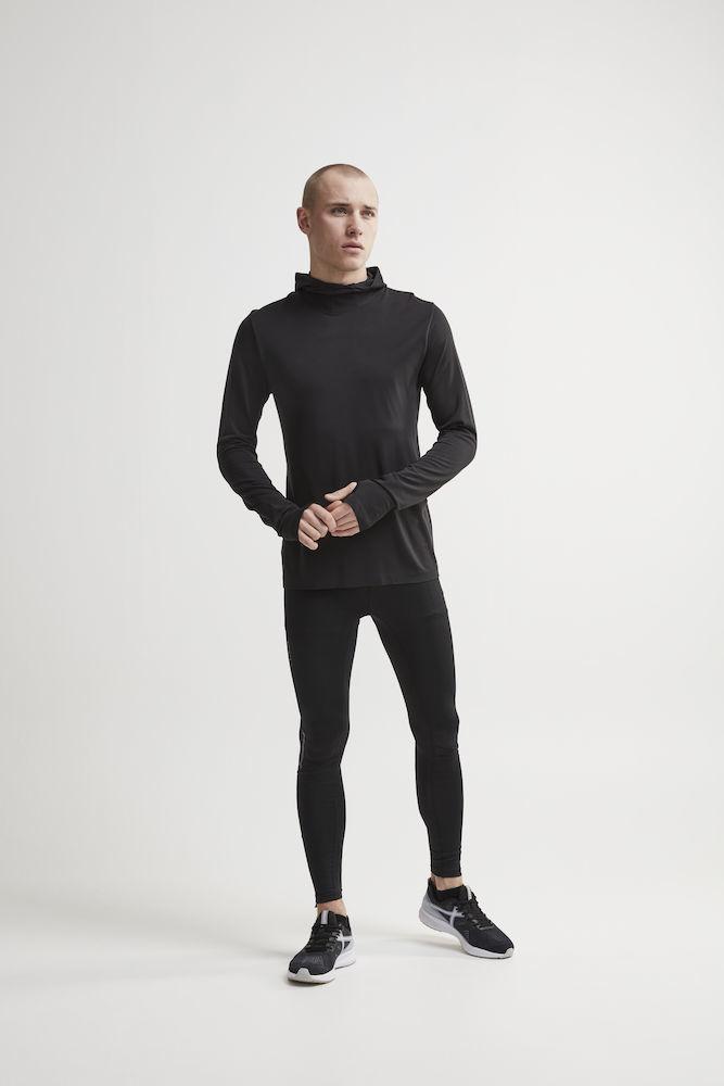Craft Core Fuseknit рубашка беговая с капюшоном мужская black - 5