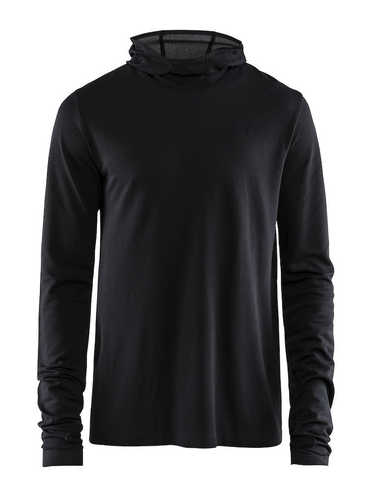 Craft Core Fuseknit рубашка беговая с капюшоном мужская black - 1
