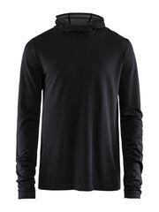 Craft Core Fuseknit рубашка беговая с капюшоном мужская black