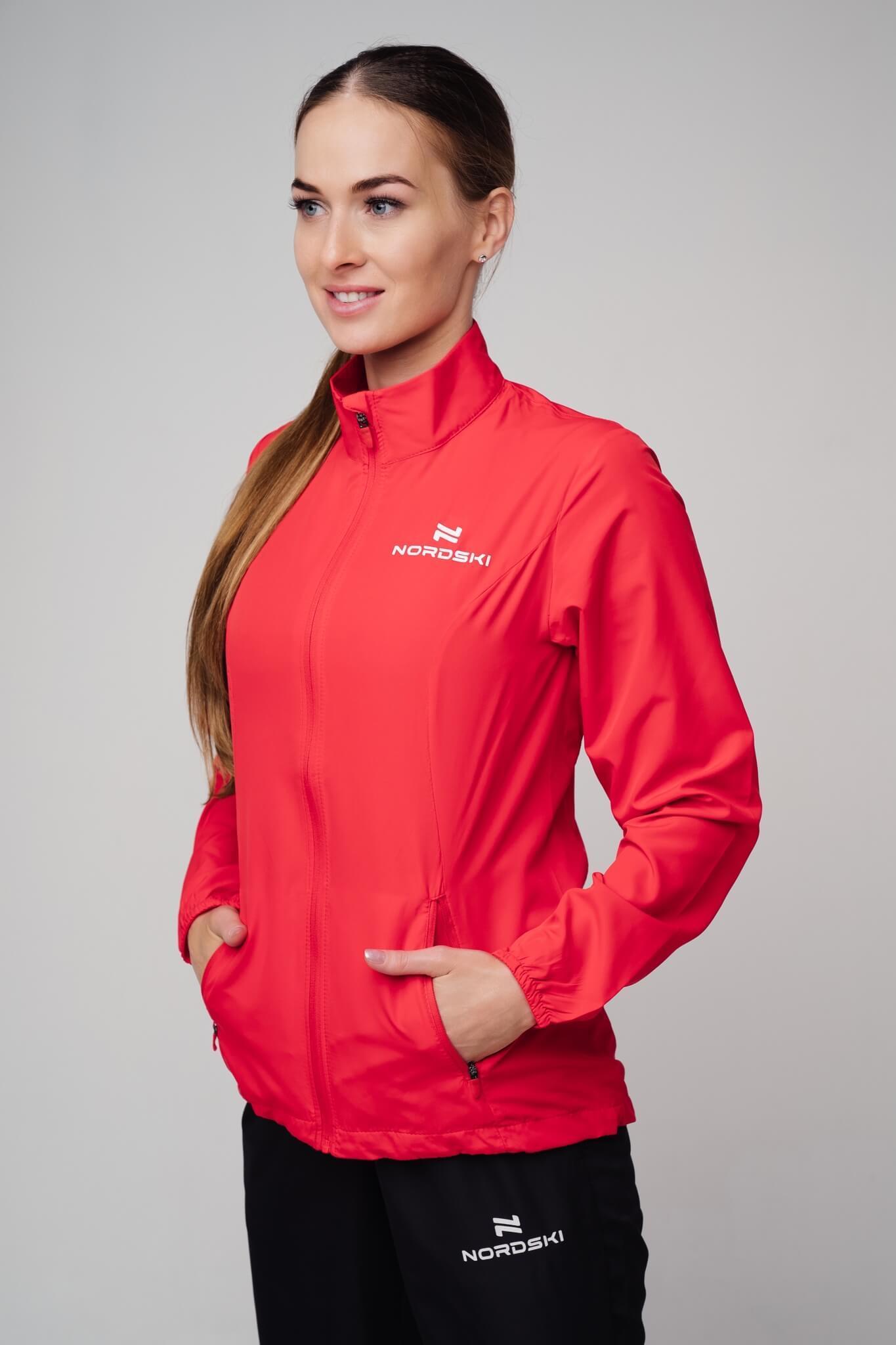 Nordski Motion куртка ветровка женская Red - 8