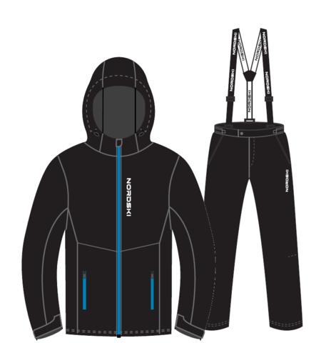 Nordski Montana Premium прогулочный лыжный костюм мужской Black